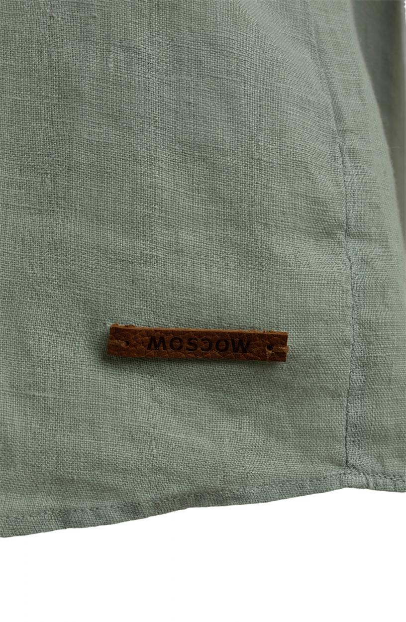 Moscow Dames Button linnen blouse Groen