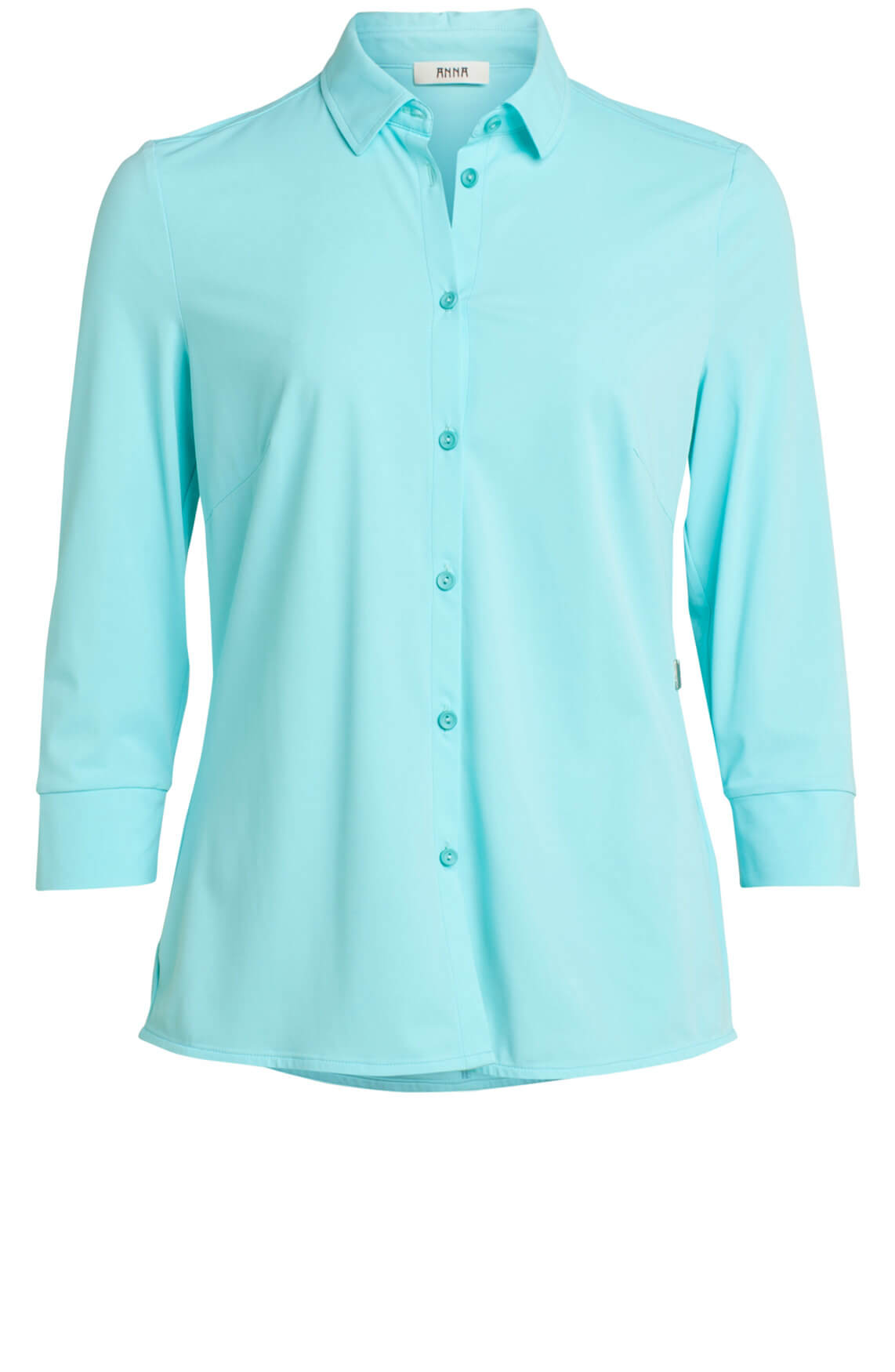 Anna Dames Jersey blouse turquoise
