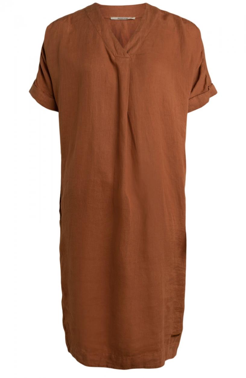 Moscow Dames Heroin linnen jurk Roze