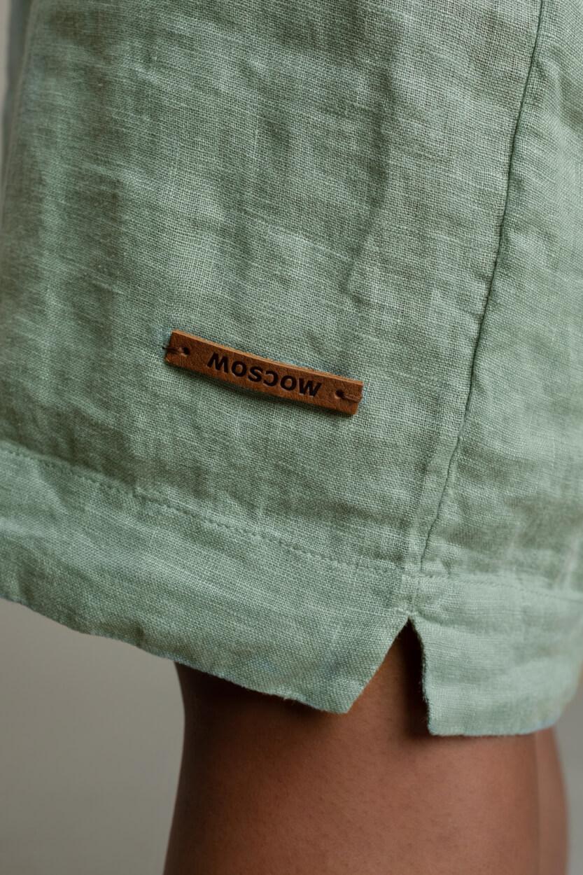 Moscow Dames Heroin linnen jurk Groen