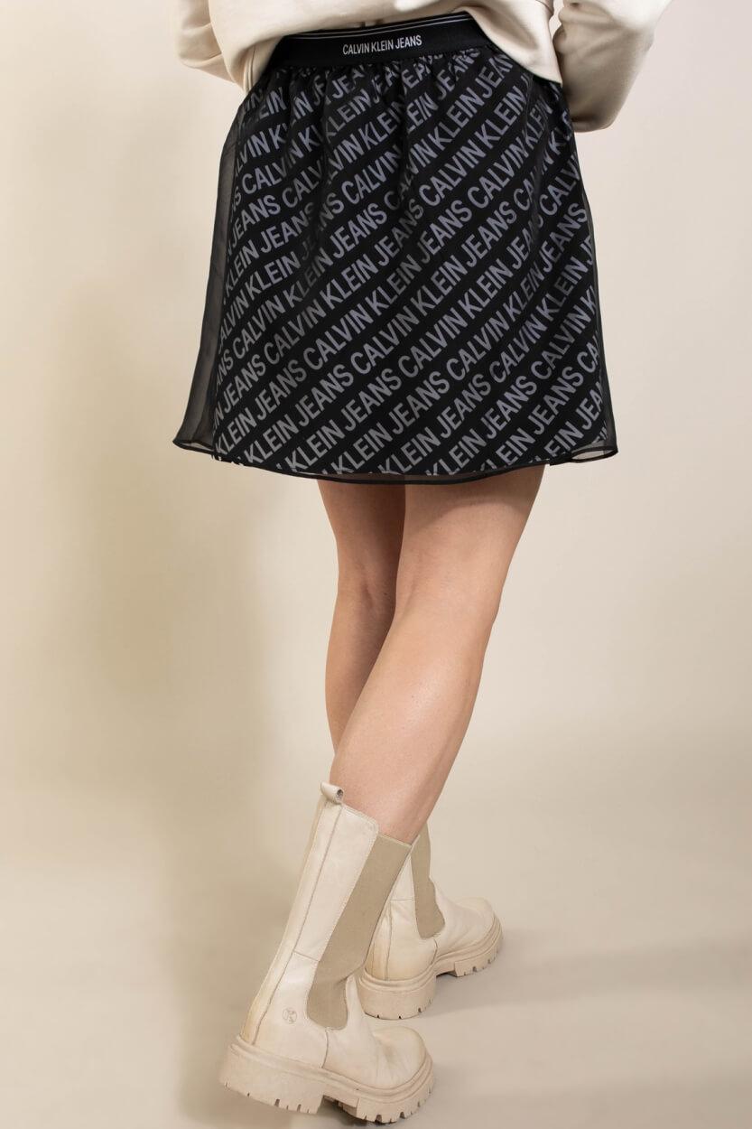Calvin Klein Dames Logo rok Zwart