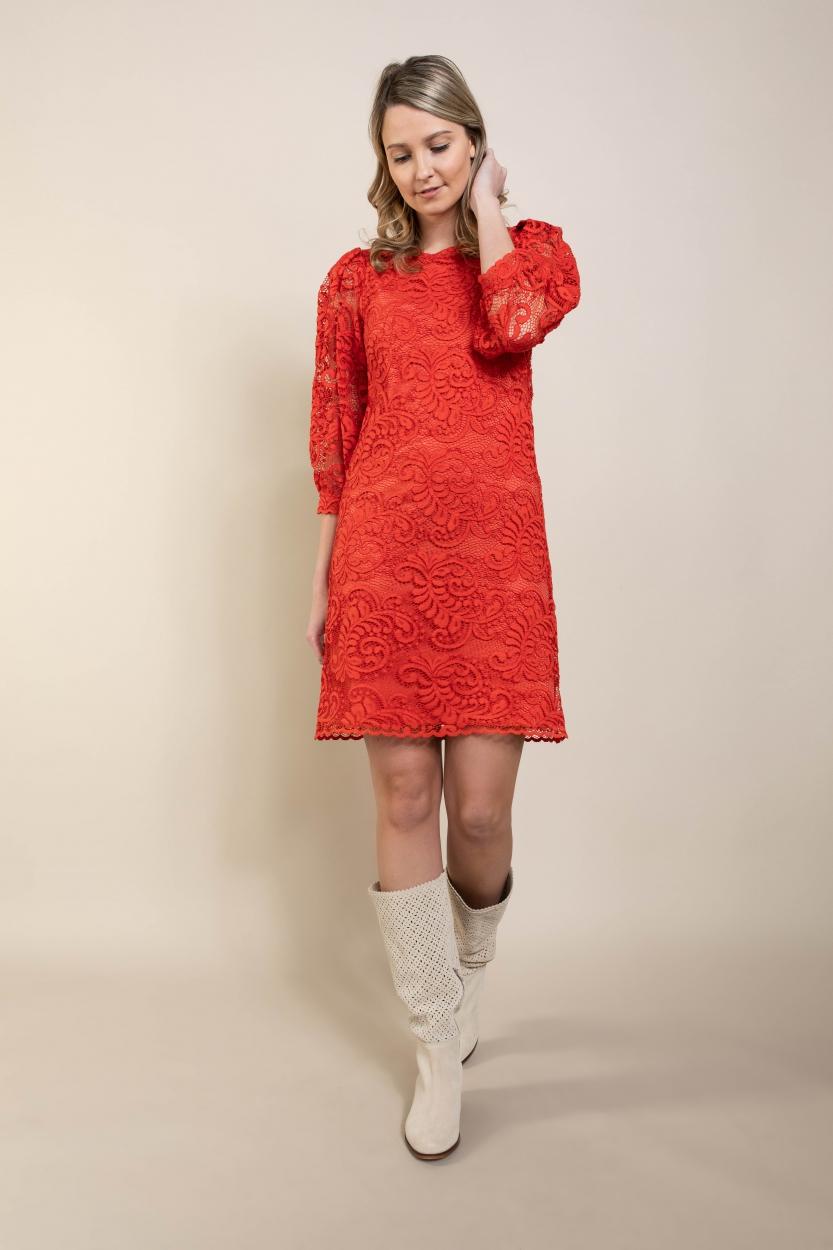 Ana Alcazar Dames Kanten jurk Rood