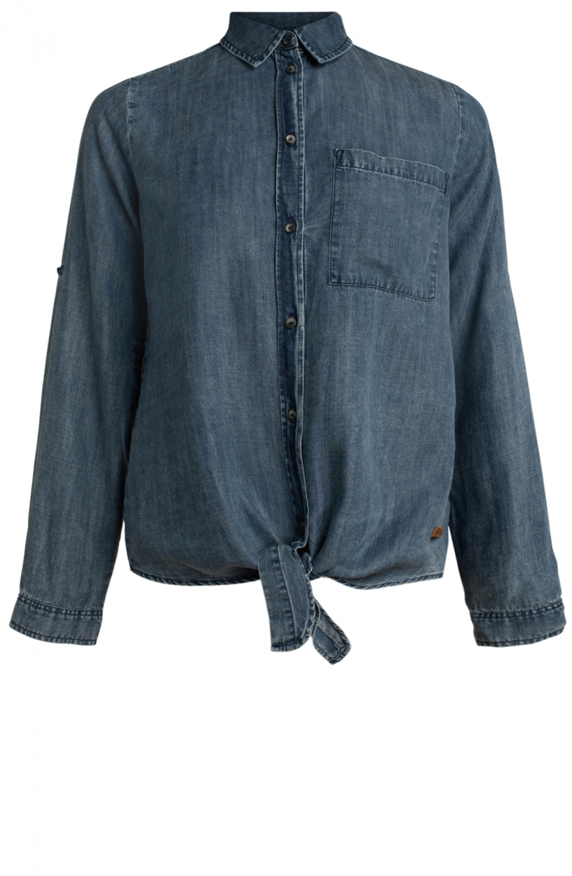 Moscow Dames Breeze denim blouse Blauw