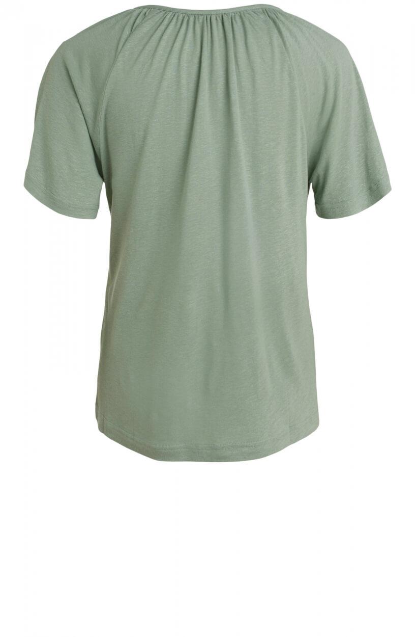 Moscow Dames Gather linnen shirt Groen