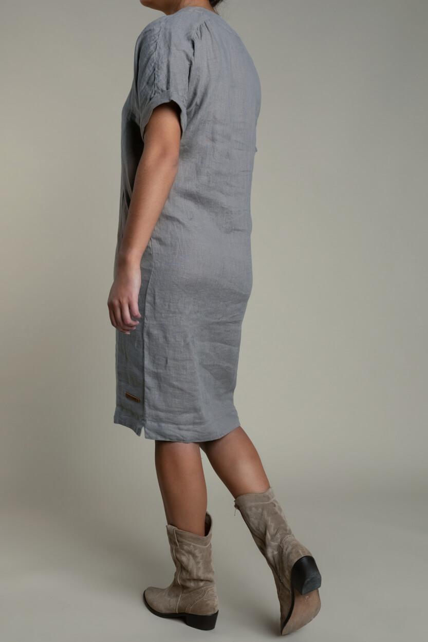 Moscow Dames Heroin linnen jurk Grijs
