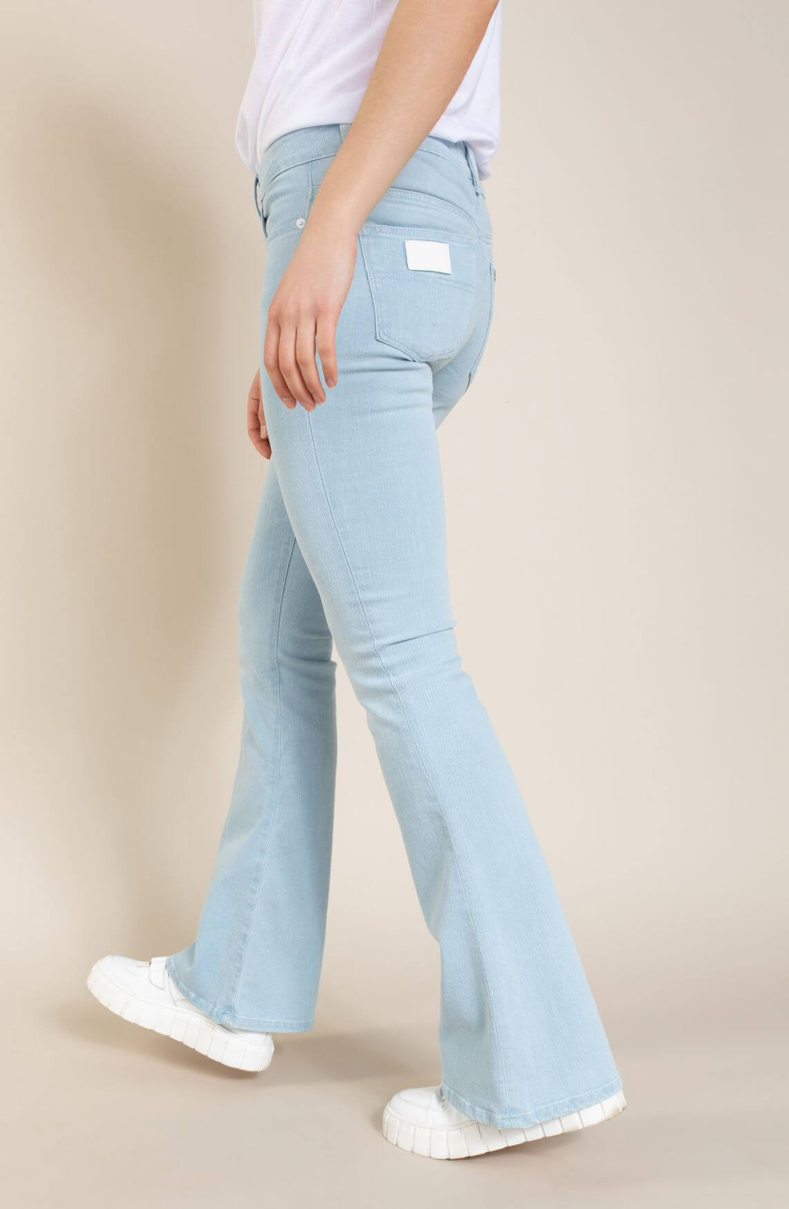 Lois Dames Flared jeans Blauw