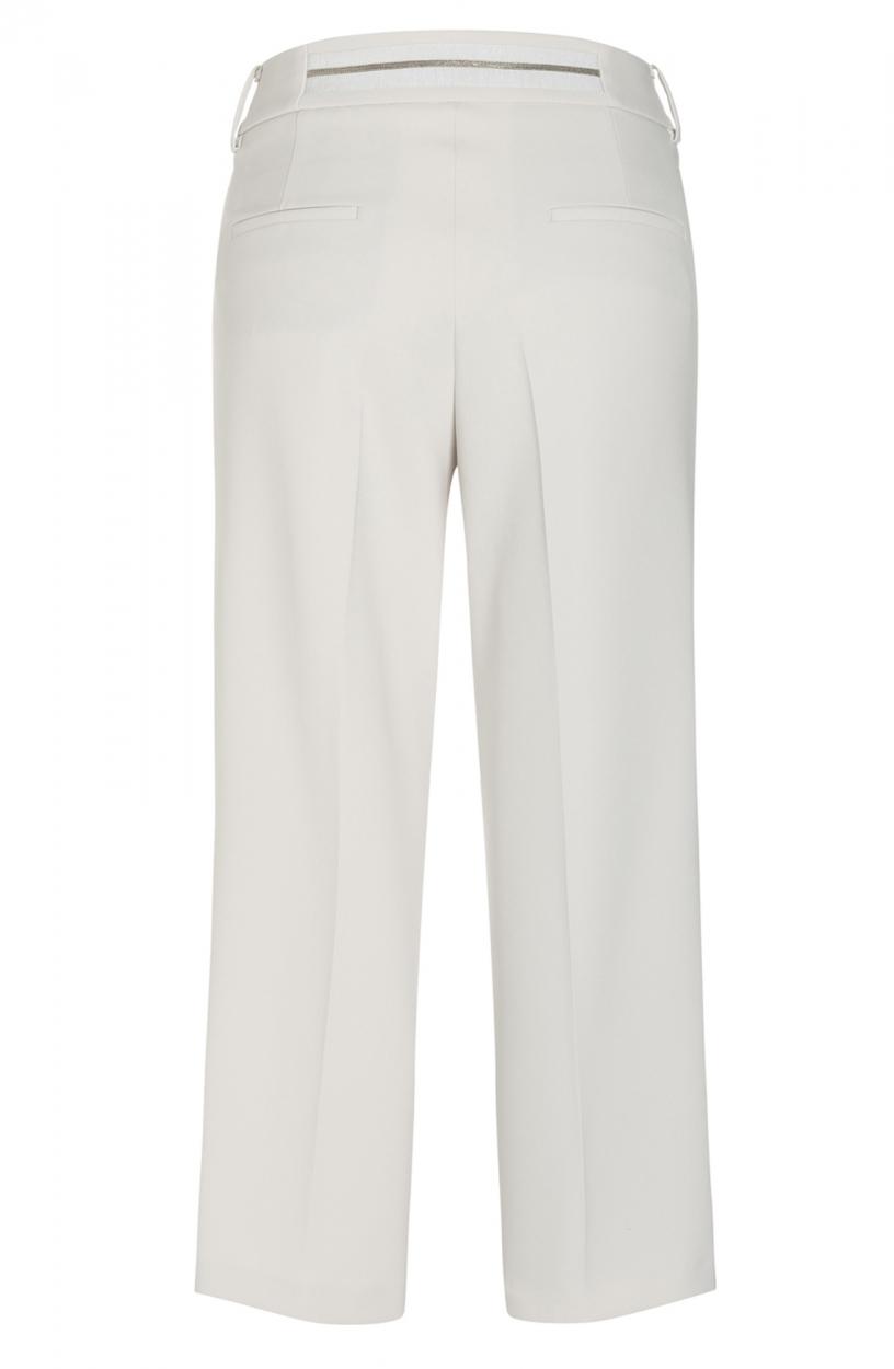Cambio Dames Pantalon met kraaldetail Wit