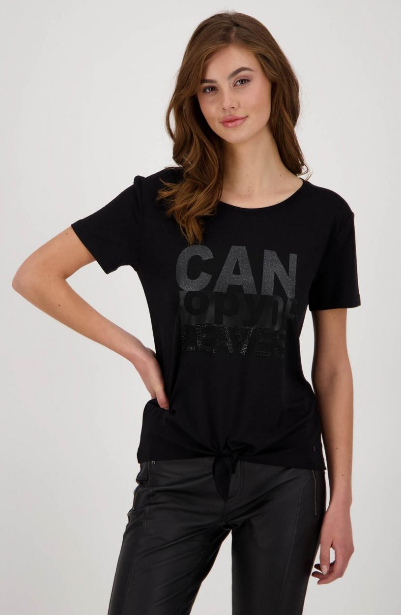 Monari Dames Shirt met print Zwart
