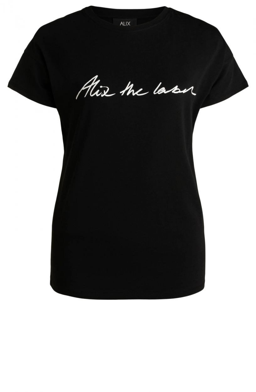 Alix The Label Dames Sketchy shirt Zwart