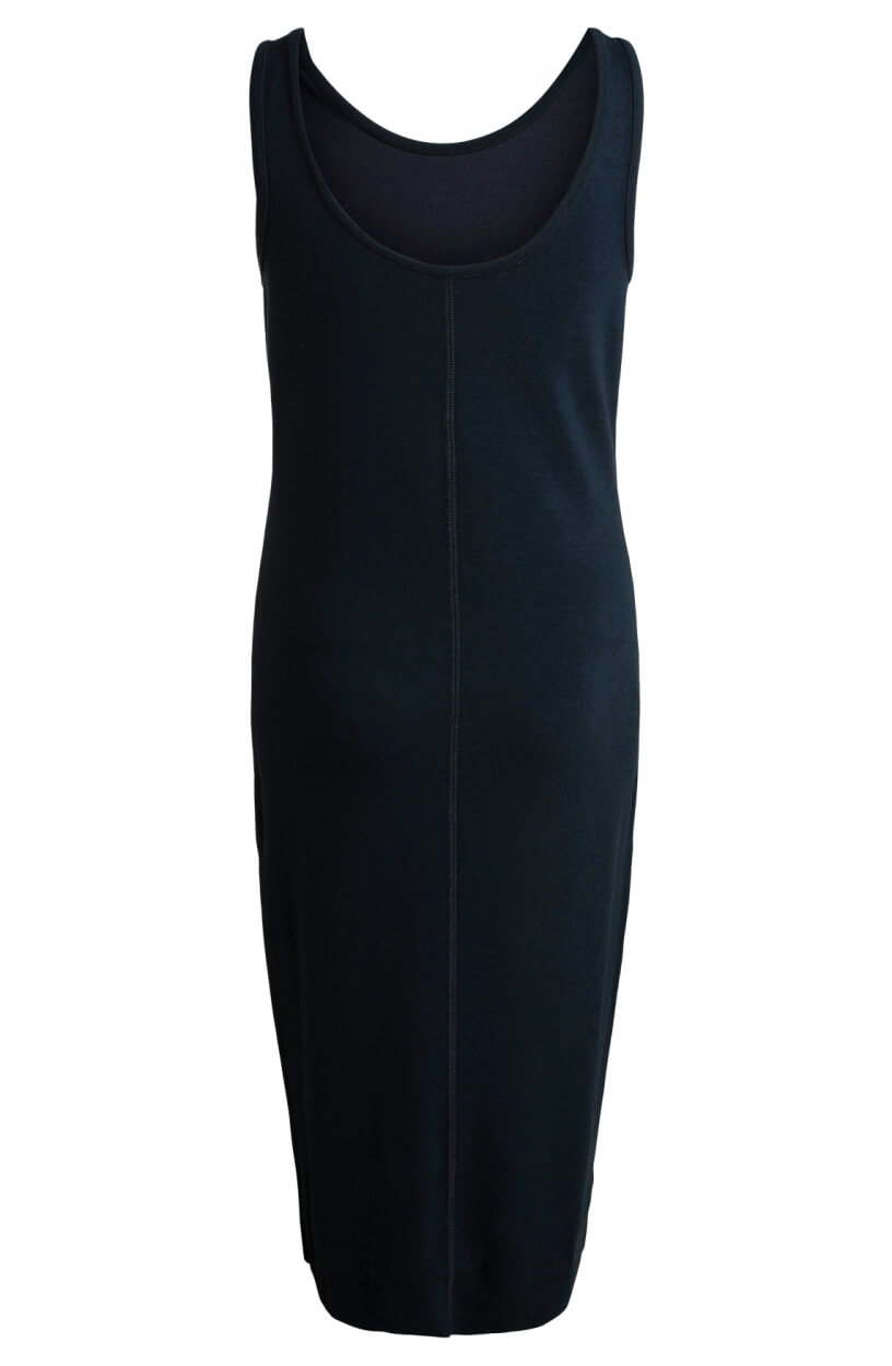 Moscow Dames Leaf mouwloze jurk Blauw