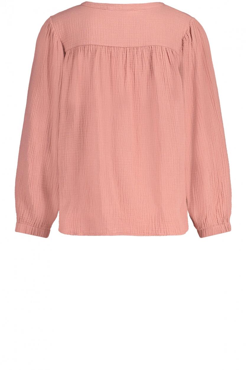 Penn & Ink Dames Wijdvallende blouse Roze
