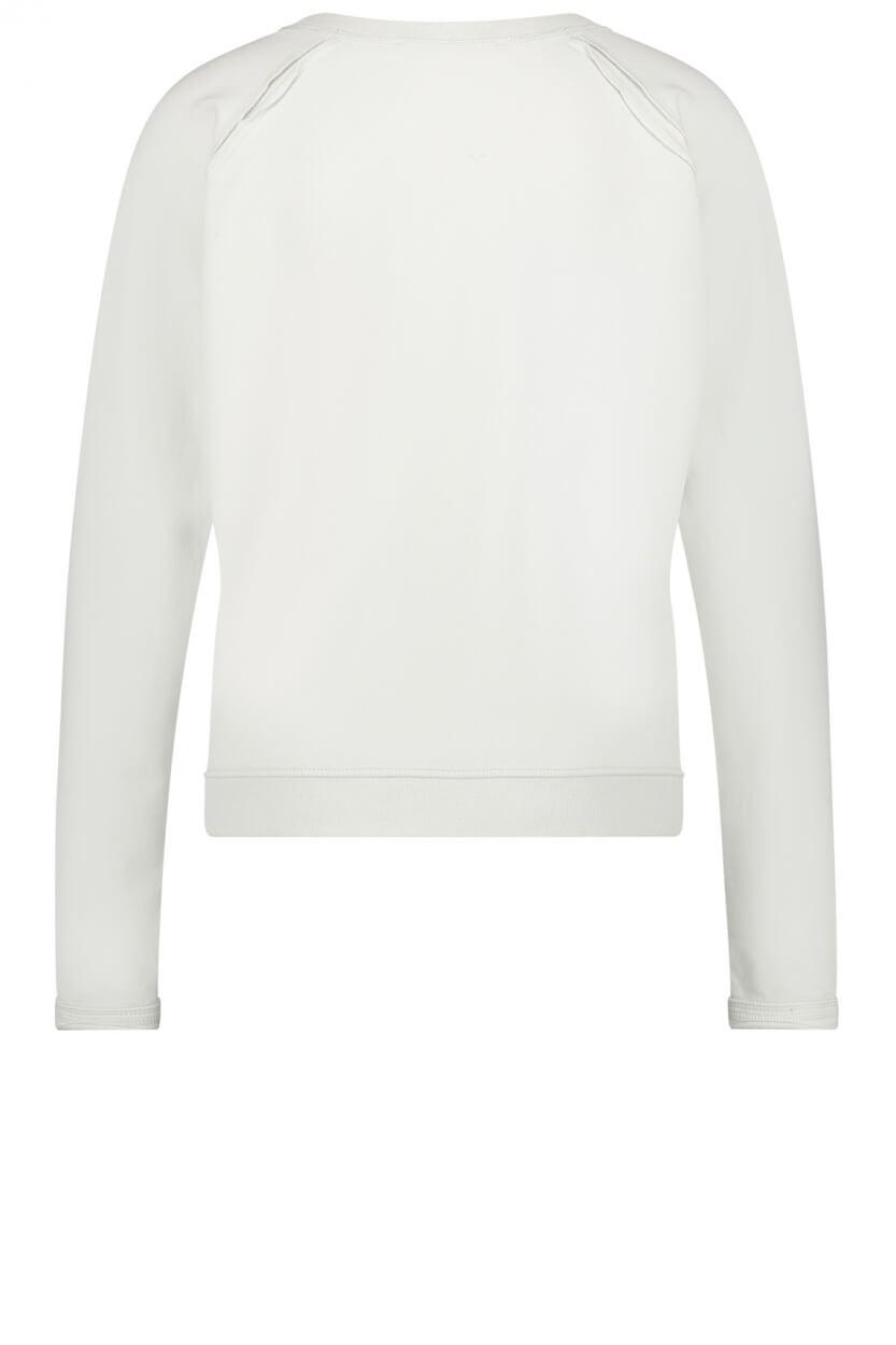 Penn & Ink Dames Pullover met tekstprint Wit