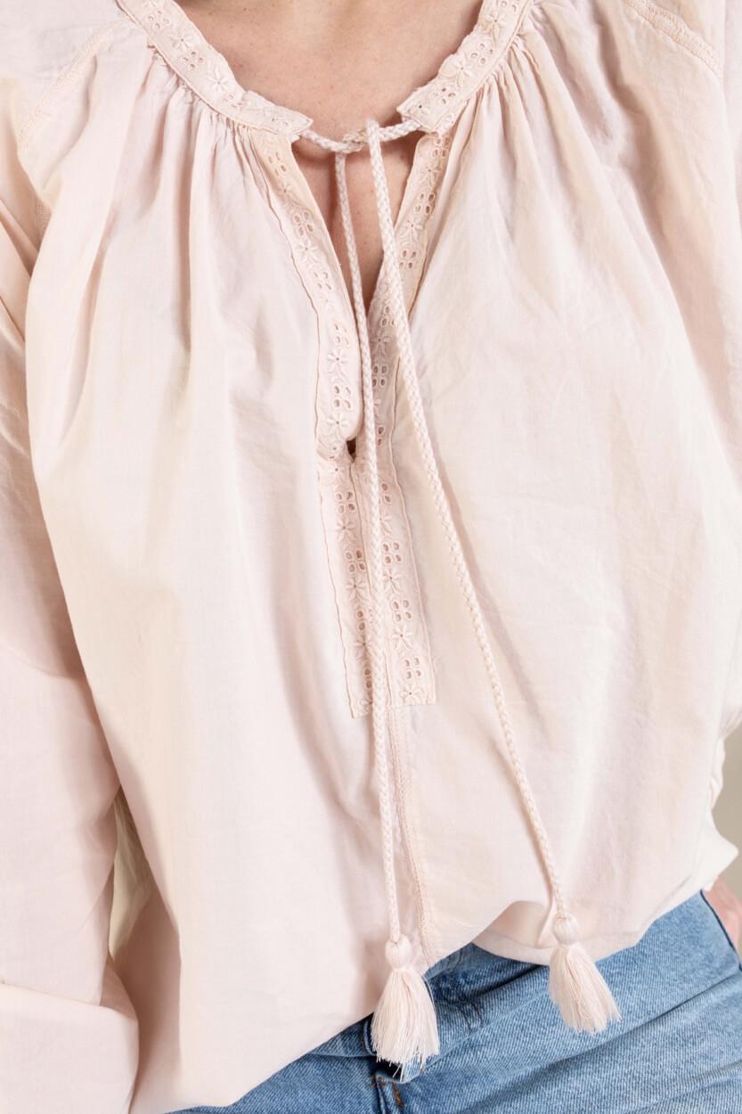 Penn & Ink Dames Blouse met strikdetail Roze