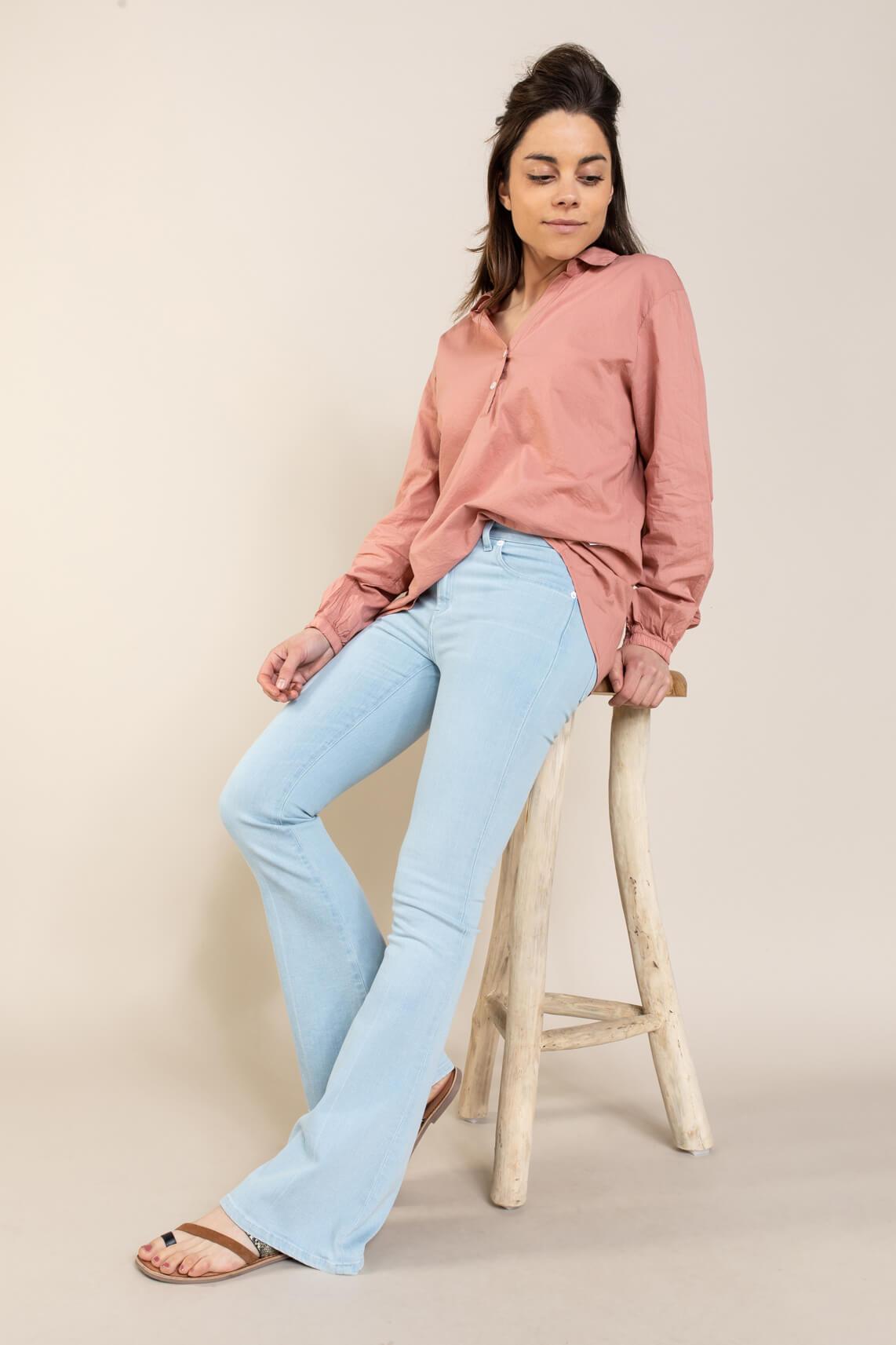 Penn & Ink Dames Blouse Roze