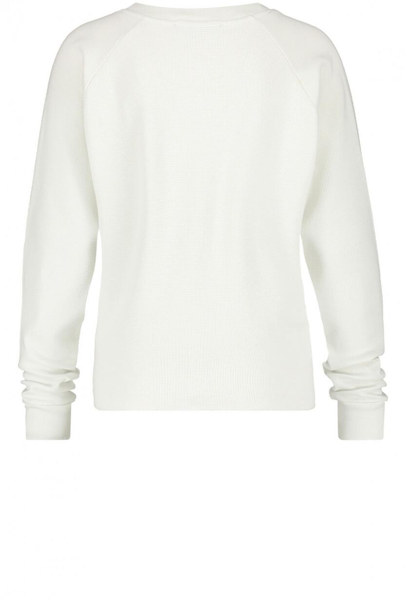Penn & Ink Dames Sweater met logo Wit