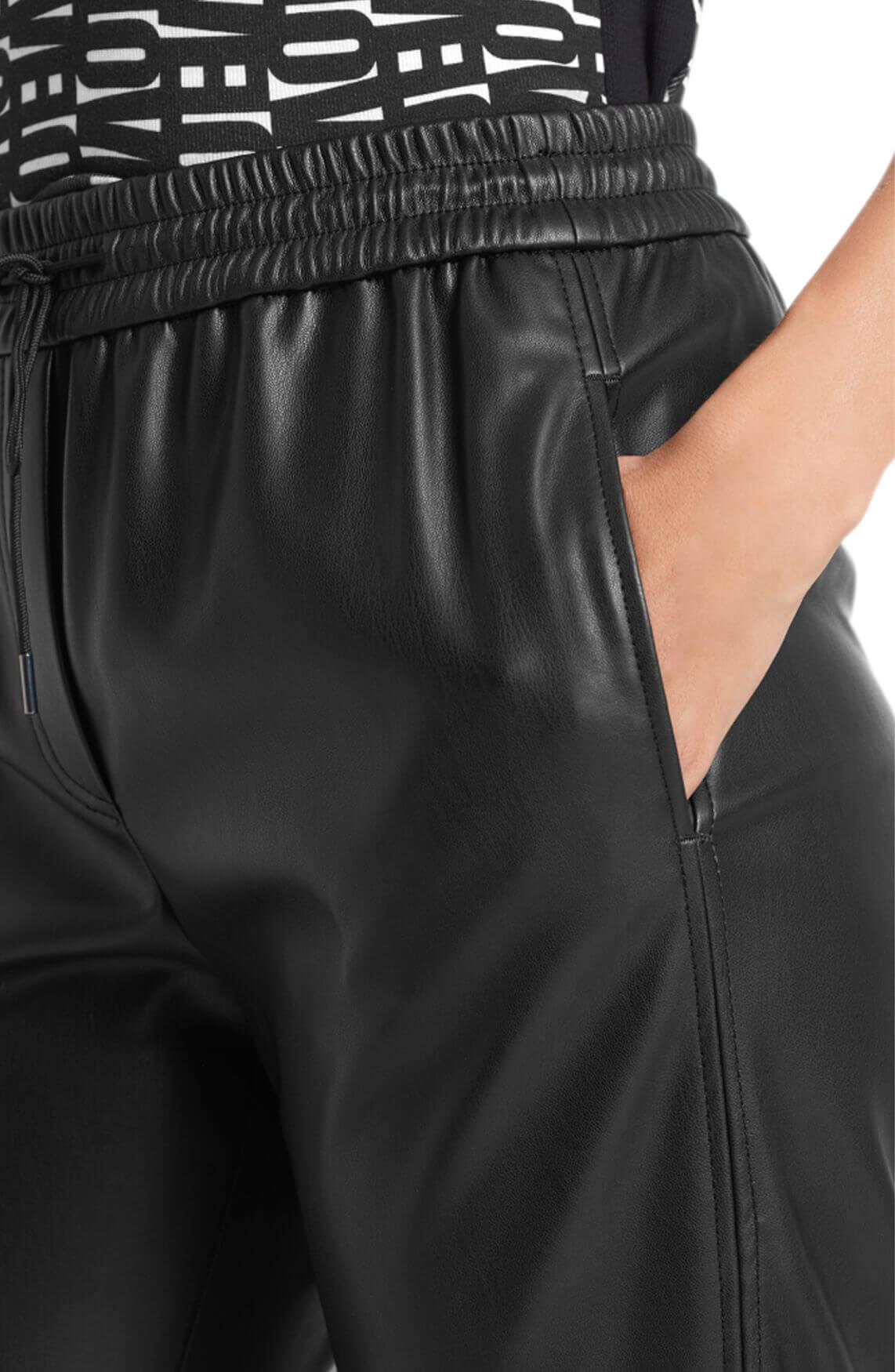 Marccain Sports Dames Pantalon van imitatienappa Zwart