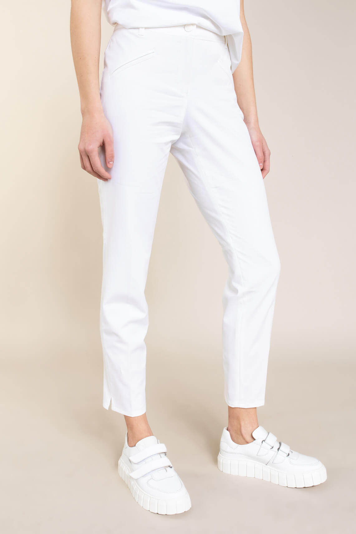 Cambio Dames Rachel pantalon Wit