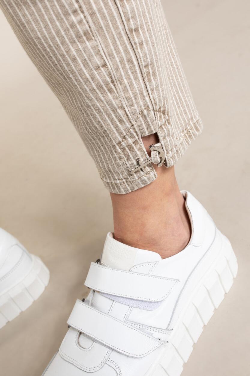 Rosner Dames L28 jeans met anker Bruin