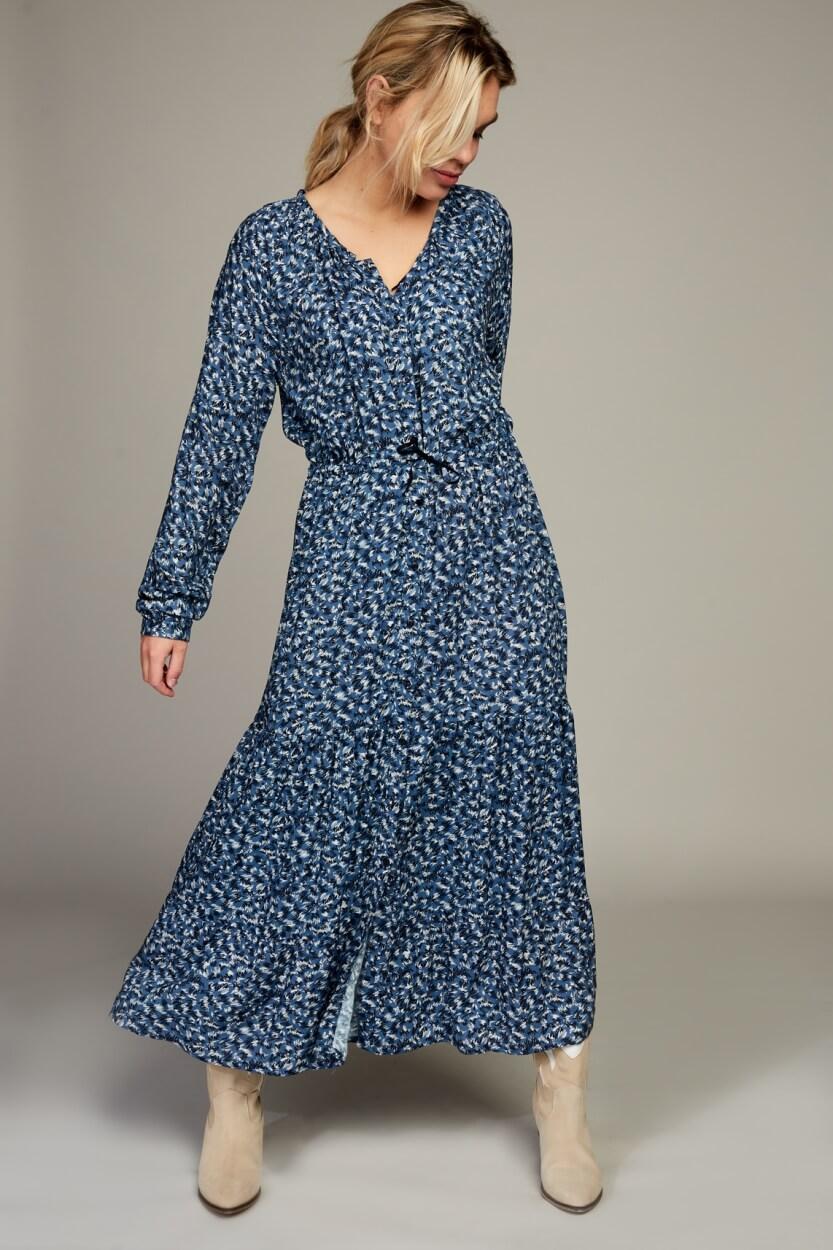 Moscow Dames Wild jurk met print Blauw