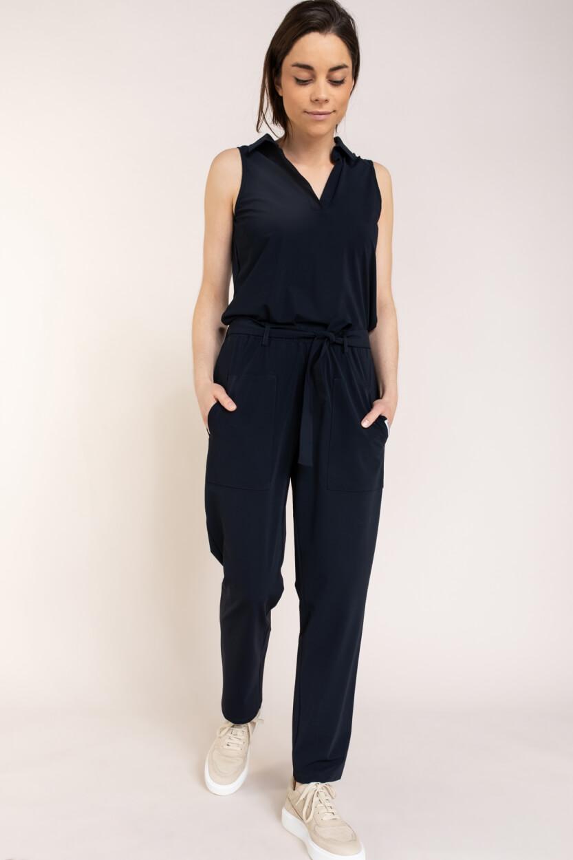 Penn & Ink Dames Jersey broek Blauw