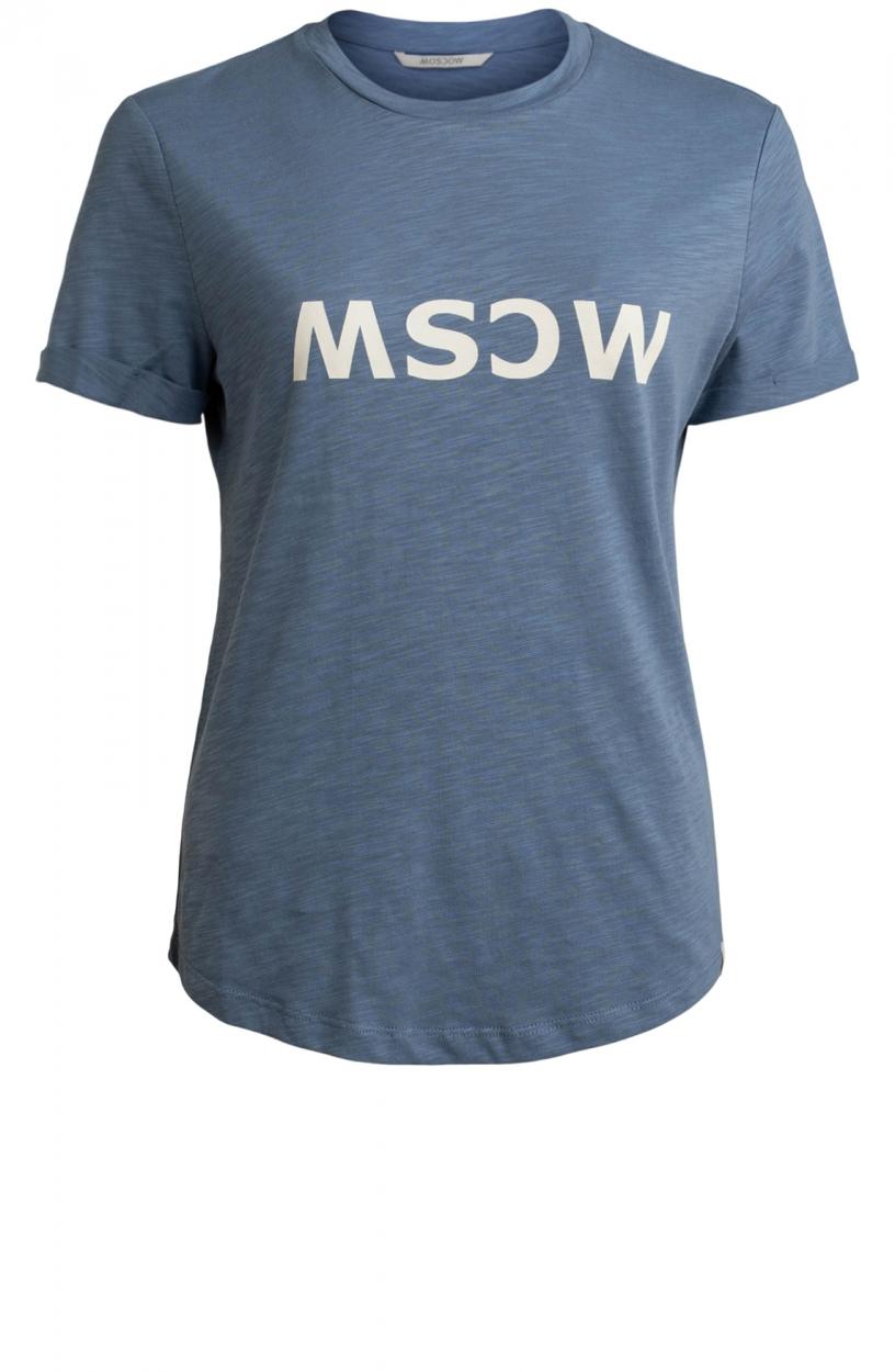 Moscow Dames Gone logo shirt Blauw