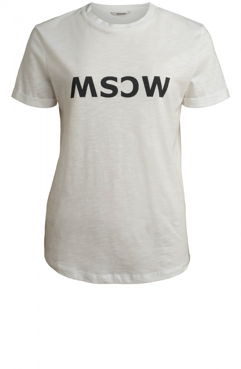 Moscow Dames Gone logo shirt Wit