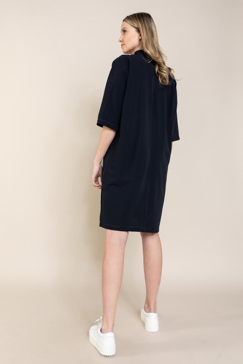 Penn & Ink Dames Jersey jurk Blauw