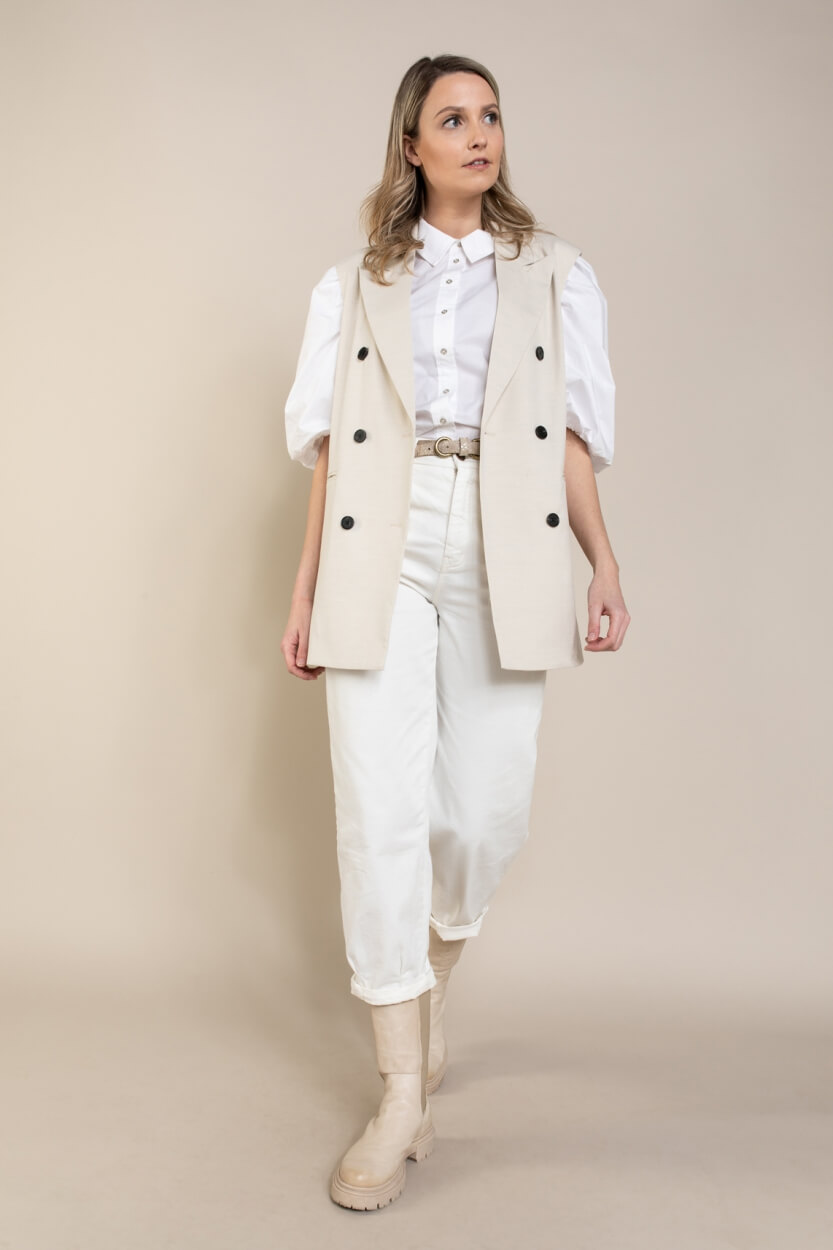 Co Couture Dames Elaine gilet Wit