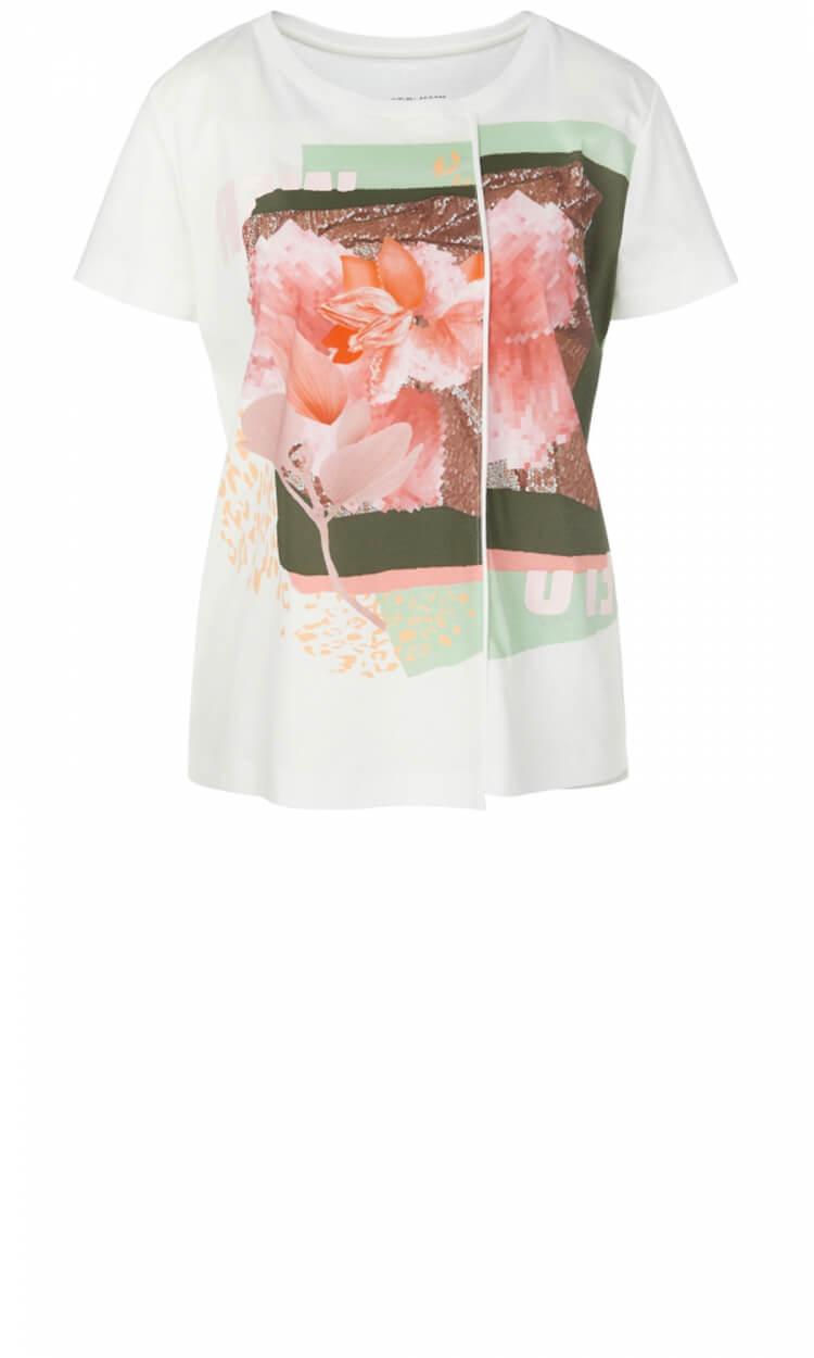 Marccain Sports Dames Shirt met print Wit