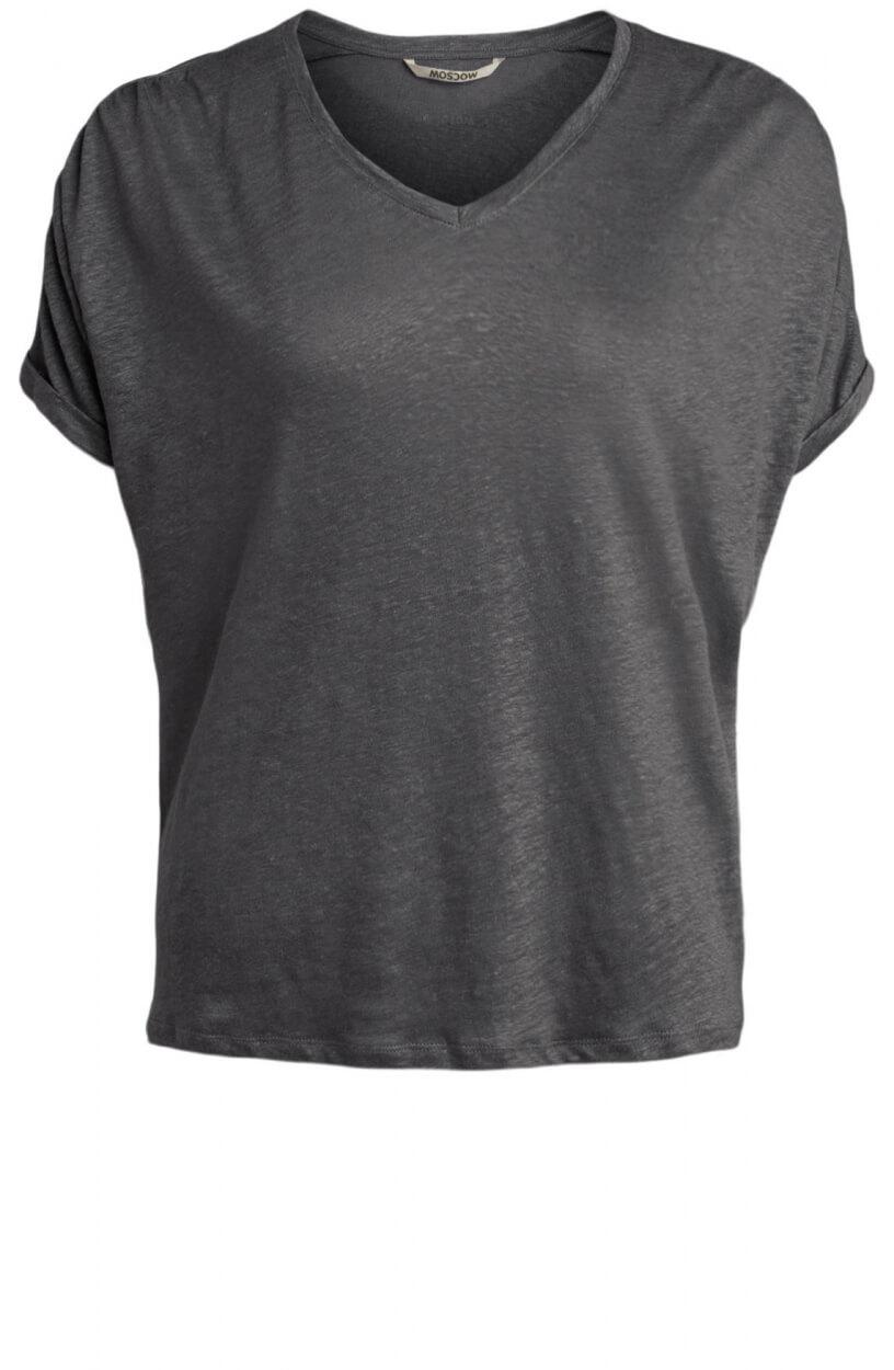 Moscow Dames Greenfield linnen shirt Grijs