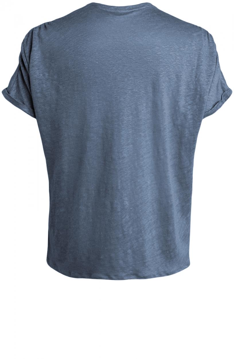 Moscow Dames Greenfield linnen shirt Blauw