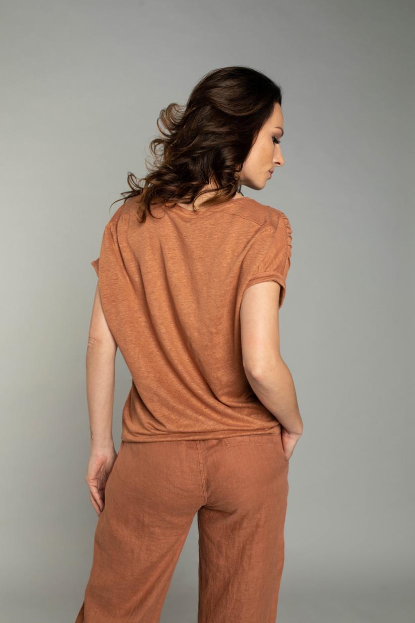 Moscow Dames Greenfield linnen shirt Roze