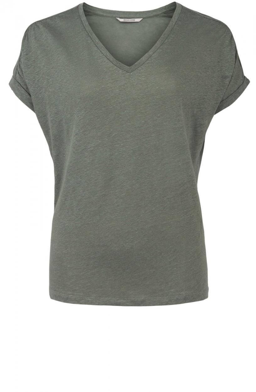 Moscow Dames Greenfield linnen shirt Groen