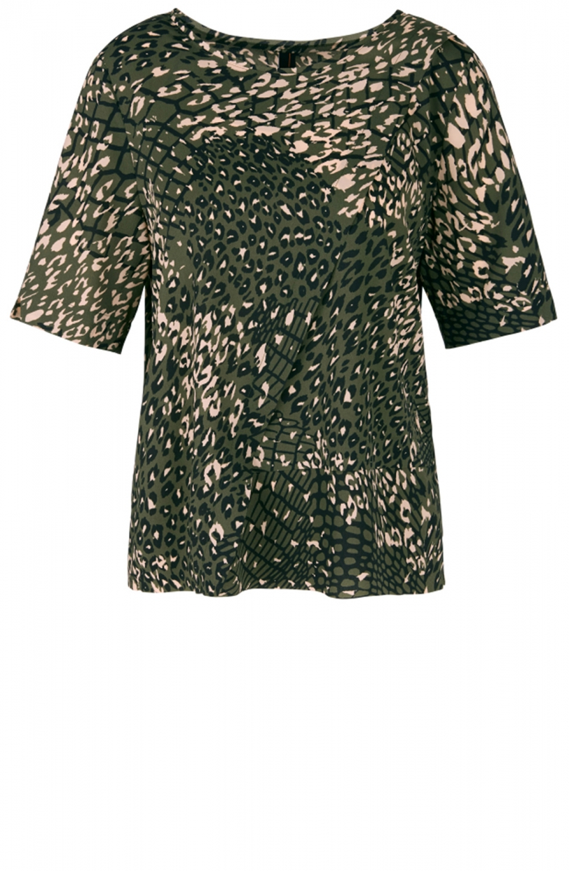 Marccain Sports Dames Dierenprint blouse Groen