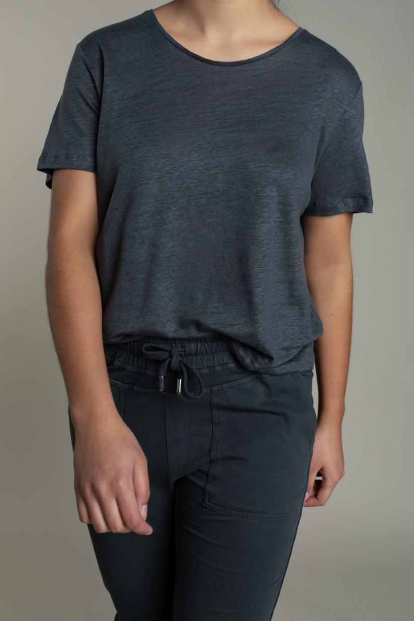 Moscow Dames Daily linnen shirt Grijs