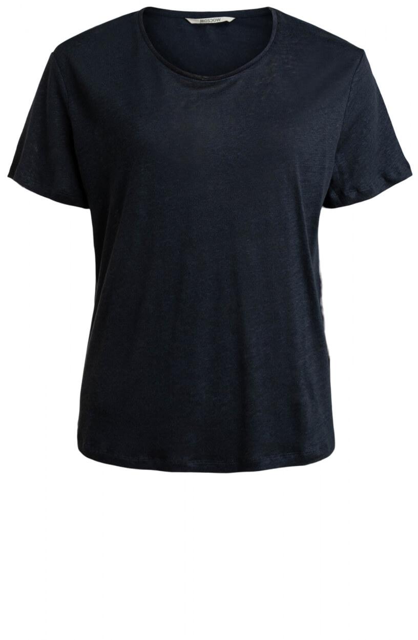 Moscow Dames Daily linnen shirt Blauw