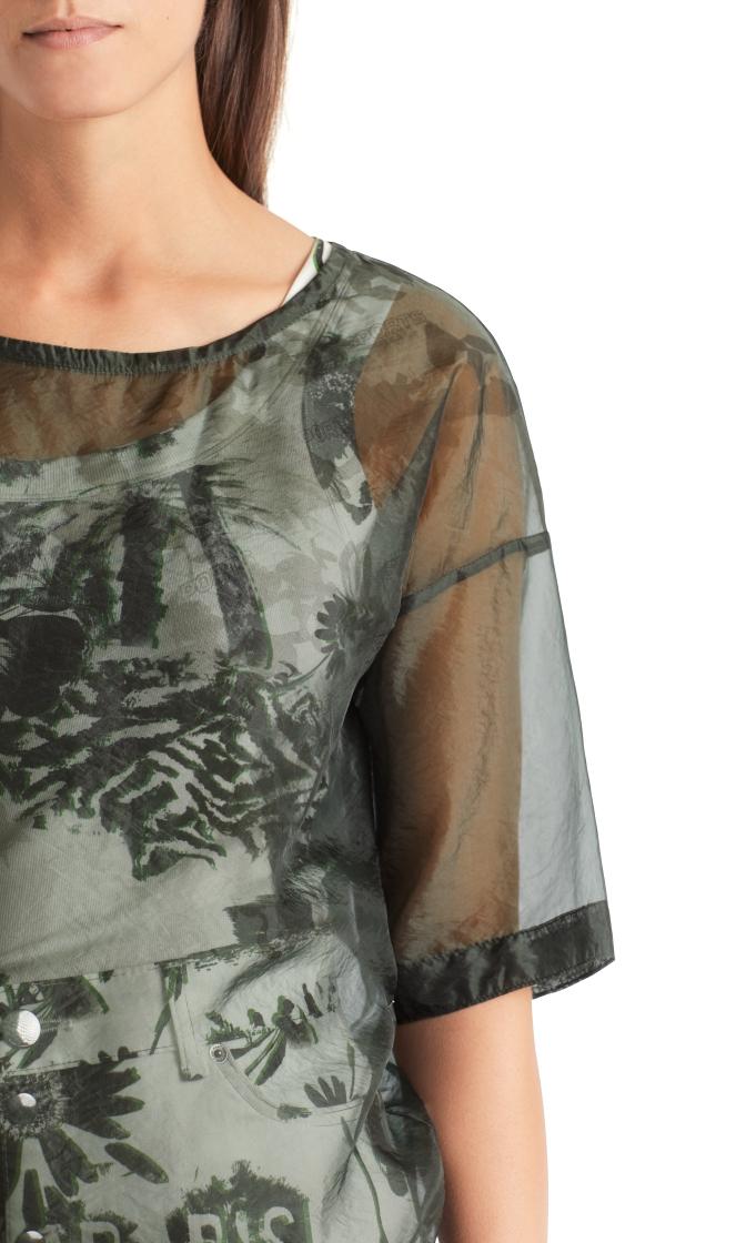 Marccain Sports Dames Organza shirt Groen