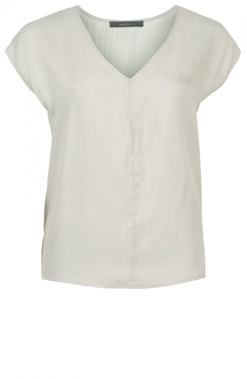 Emotions Dames Cupro shirt met V-hals Grijs