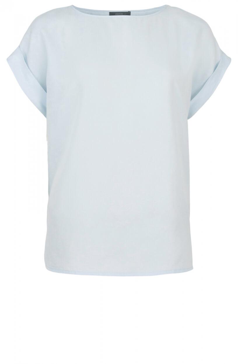 Emotions Dames Cupro shirt met O-hals Blauw