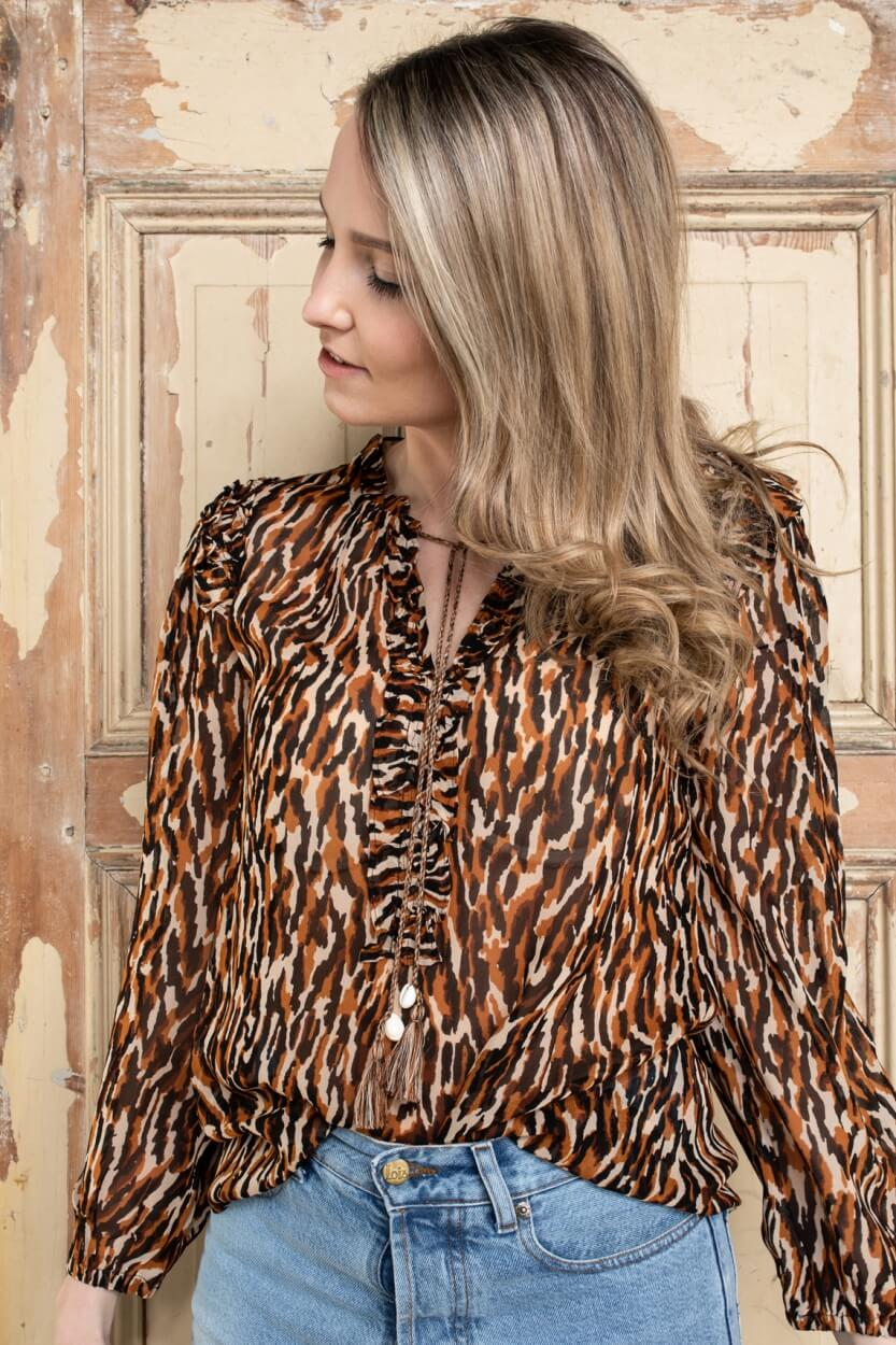 Moliin Copenhagen Dames Pamela blouse Zwart