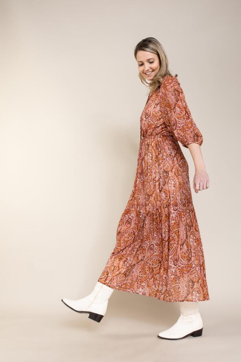 Set Dames Bohemian jurk Rood