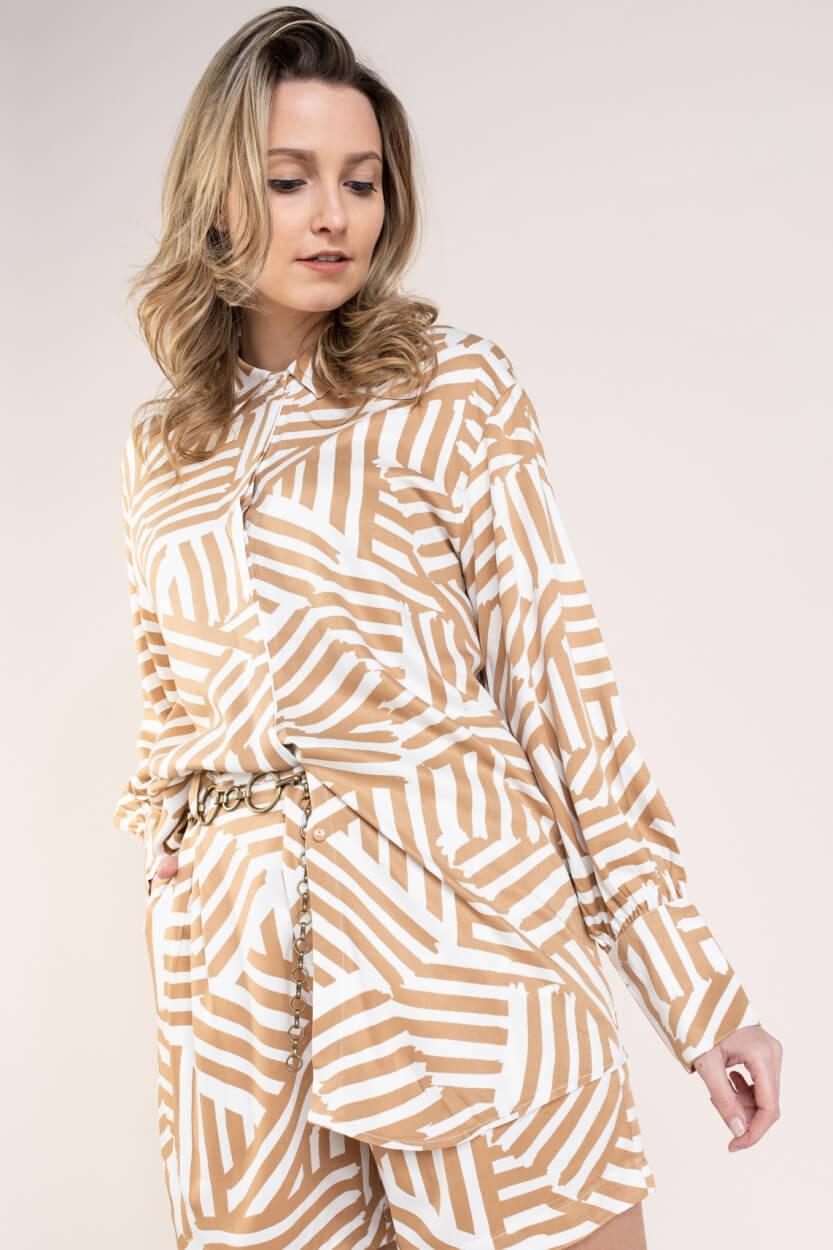 Nümph Dames Creek blouse Bruin