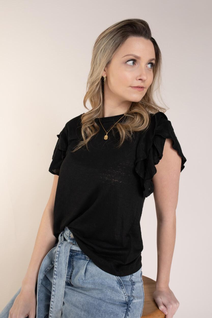 Drykorn Dames Jisane shirt Zwart