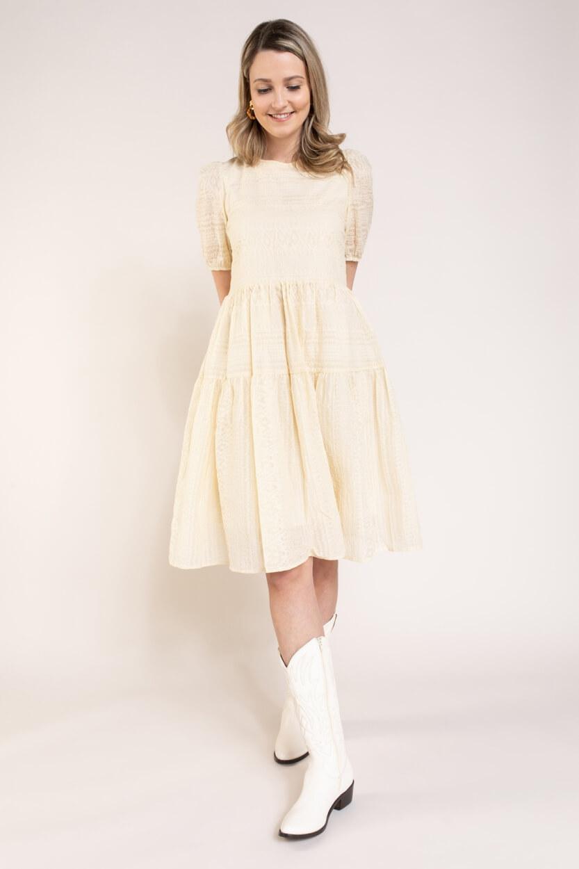 Nümph Dames Carolla jurk Bruin