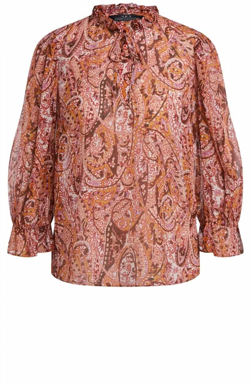 Set Dames Paisley blouse Rood