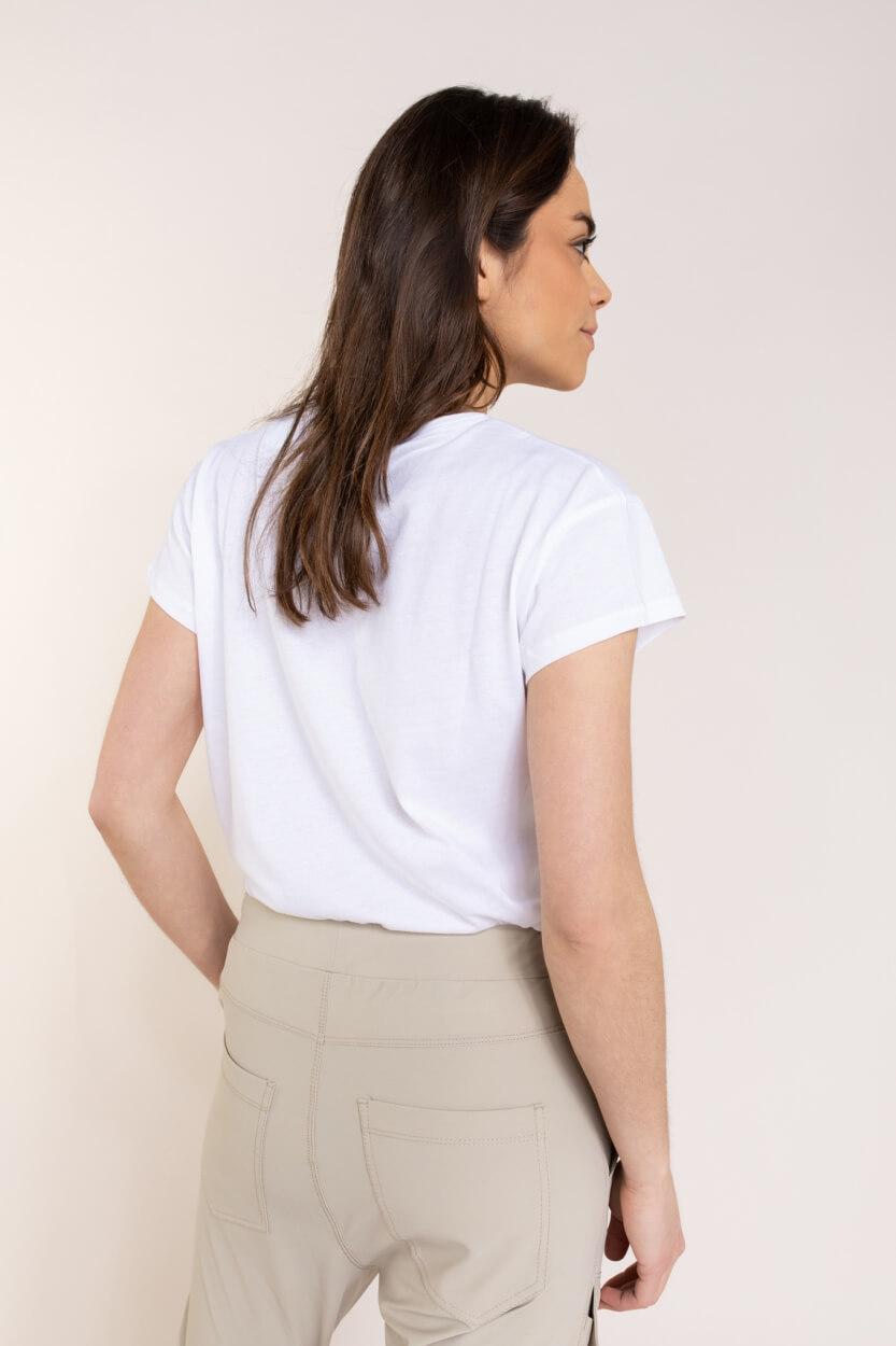 Penn & Ink Dames Logoprint shirt Wit