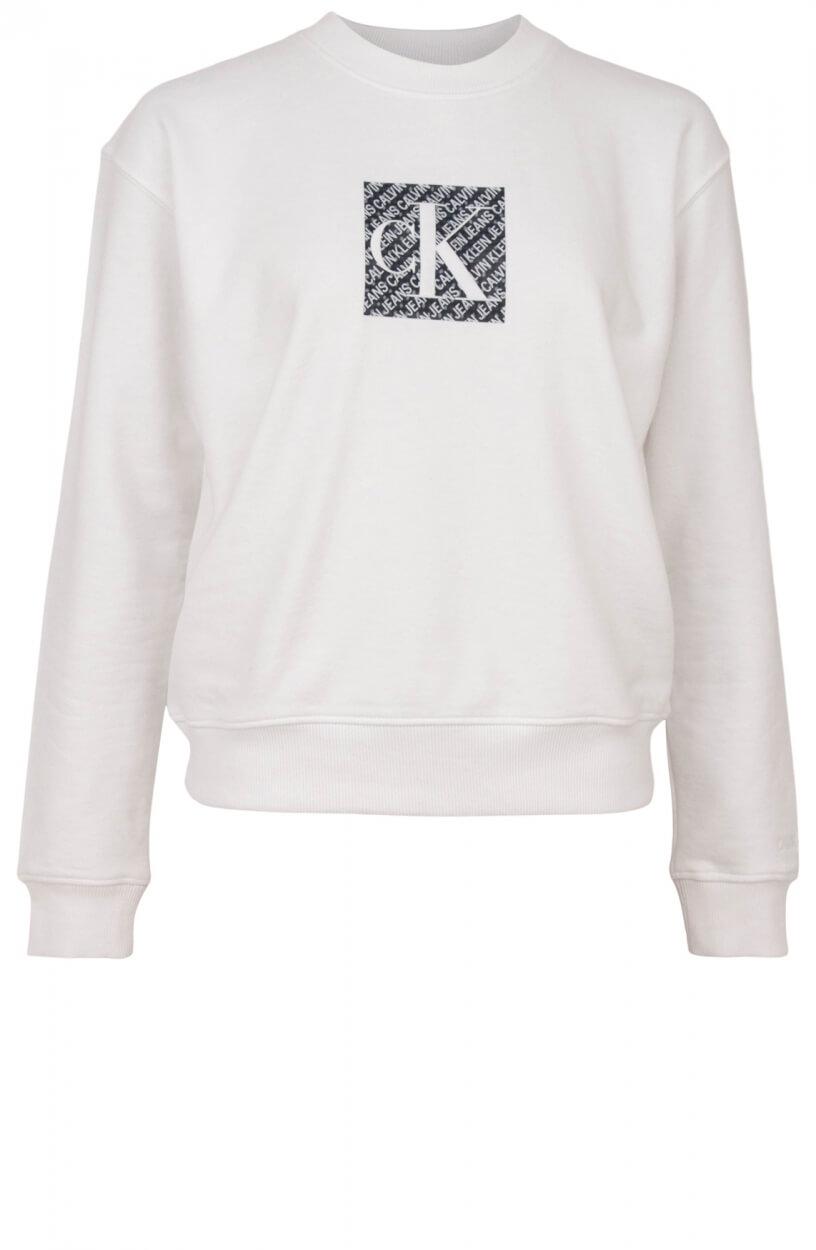 Calvin Klein Dames Logoprint sweater Wit