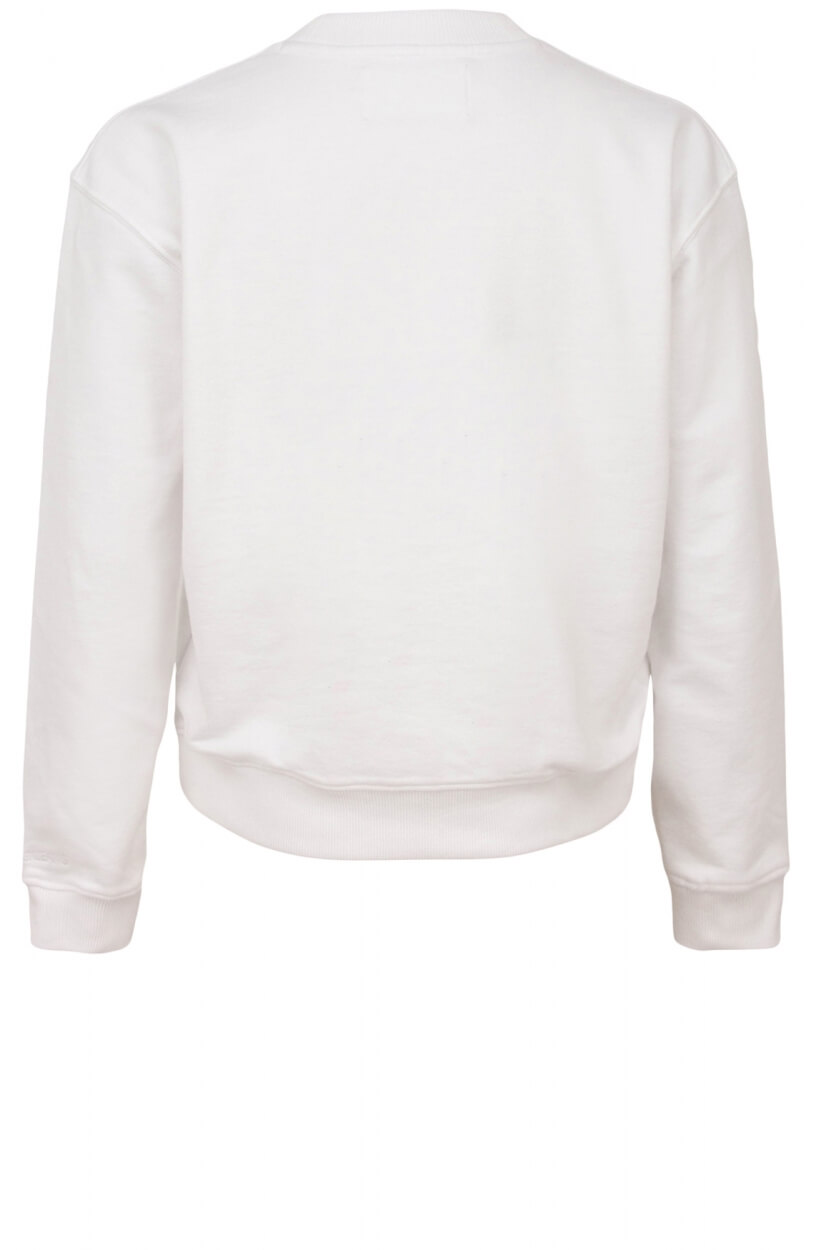 Calvin Klein Dames Logoprint sweater Wit