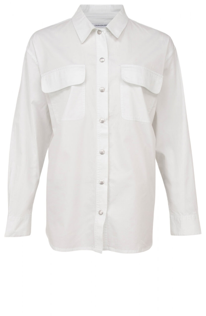 Calvin Klein Dames Oversized blouse Wit