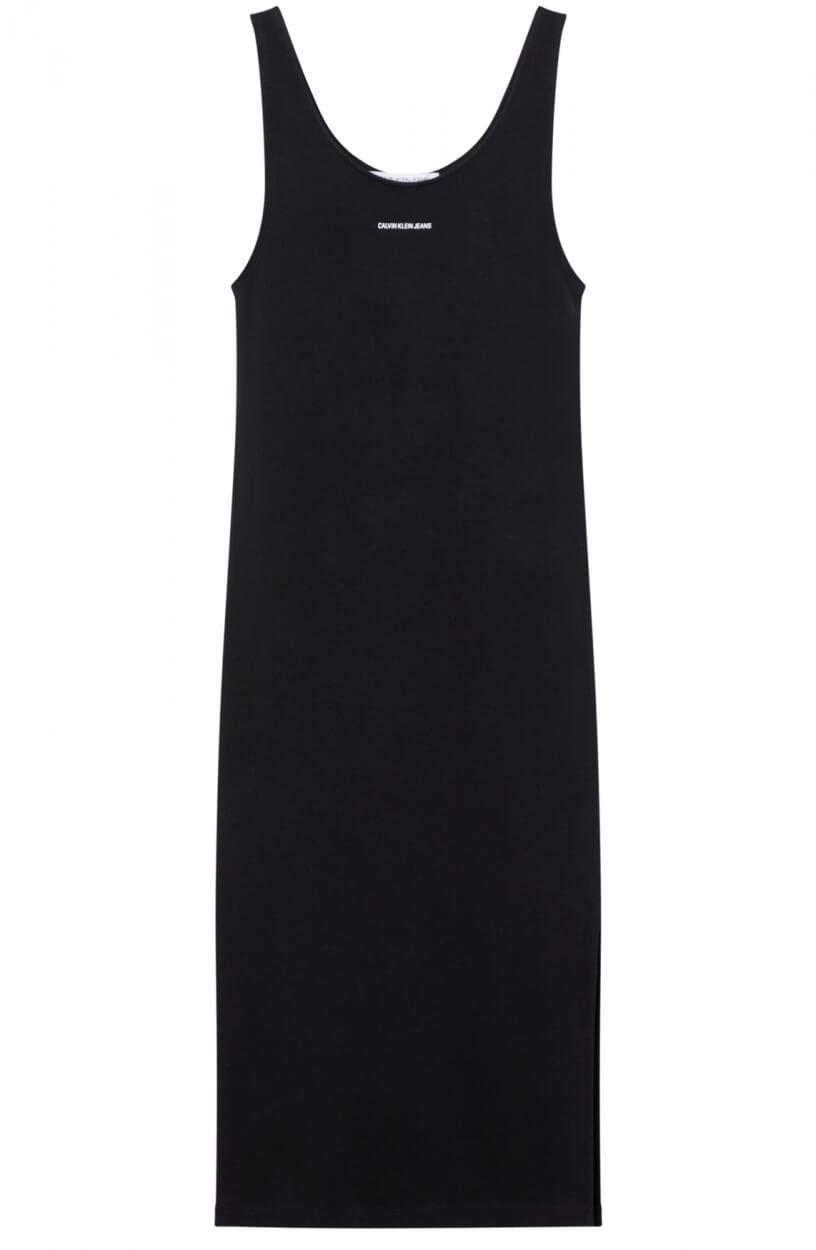 Calvin Klein Dames Logoprint jurk Zwart